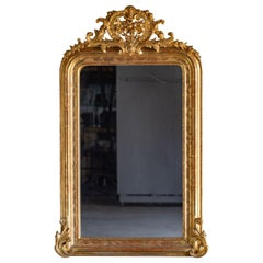 Louis Philippe Antique French Gold Mirror, circa 1885