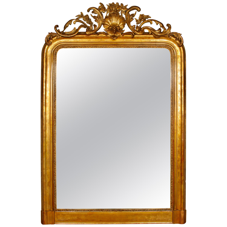 Louis Philippe Antique Giltwood Mirror
