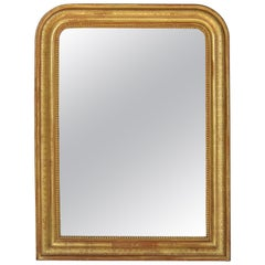 Louis Philippe Arch Top Gilt Mirror (H 39 3/8 x W 30)