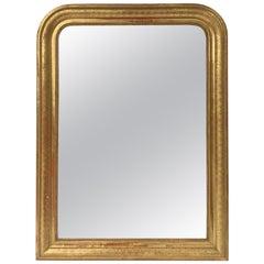 Louis Philippe Arch Top Gilt Mirror (H 42 3/4 x W 32)