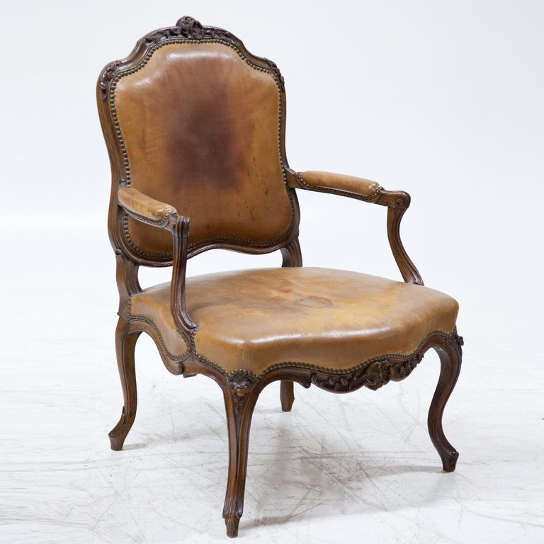 Louis Philippe Armchair, Mid-18th Century In Good Condition For Sale In Greding, DE