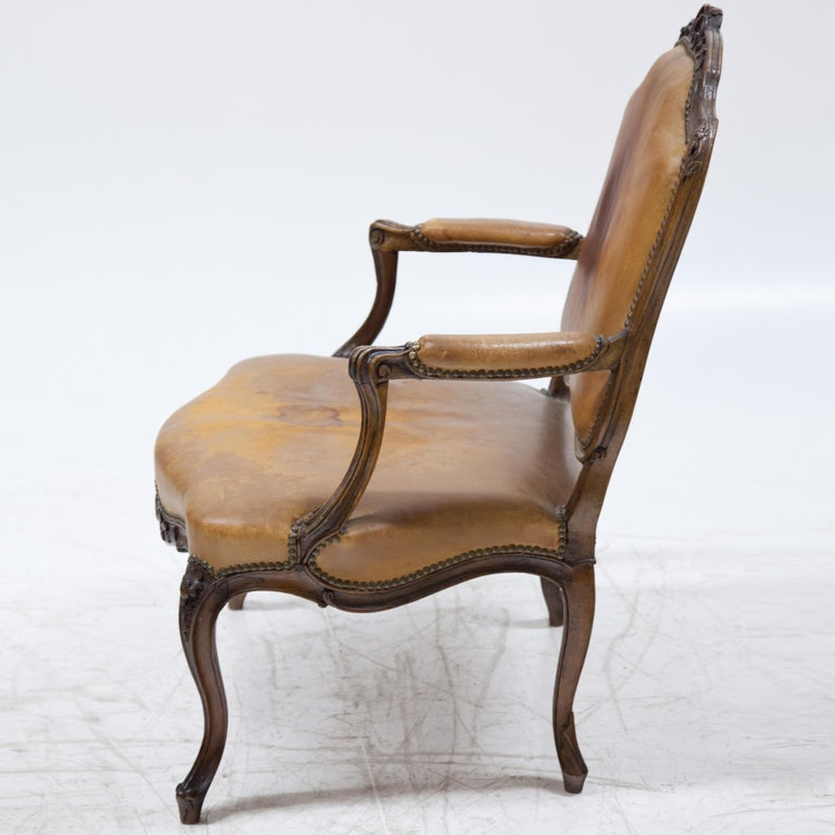 Walnut Louis Philippe Armchair, Mid-18th Century For Sale