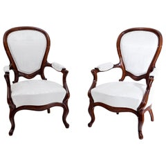 Louis Philippe Armchairs, 19th Century