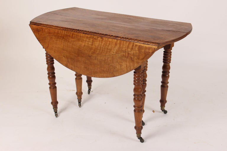 European Louis Philippe Birch Drop-Leaf Table