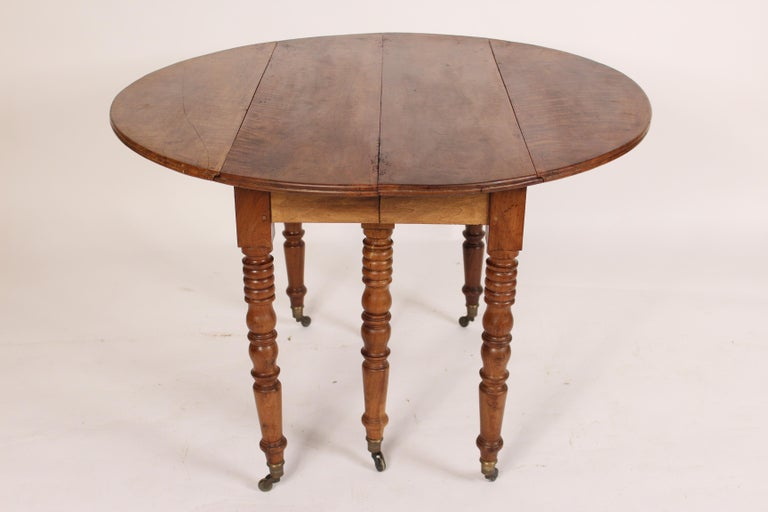 Mid-19th Century Louis Philippe Birch Drop-Leaf Table