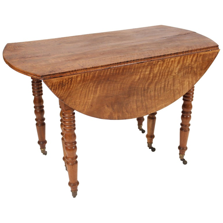 Louis Philippe Birch Drop-Leaf Table