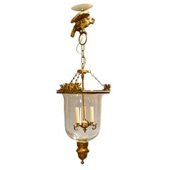 Louis Philippe Brass Bell Form Hall Lantern