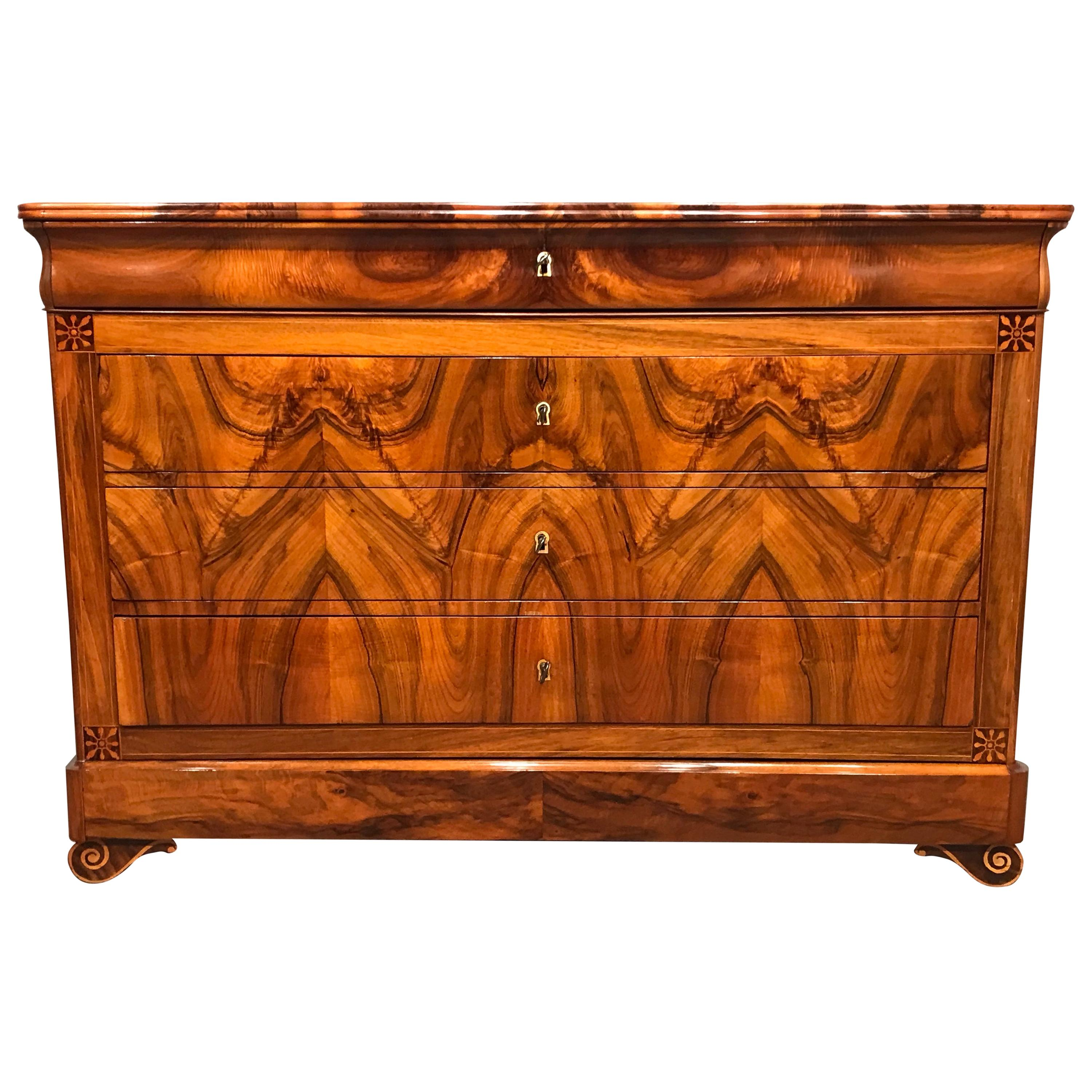 Louis Philippe Chest of Drawers, France 1840, Walnut