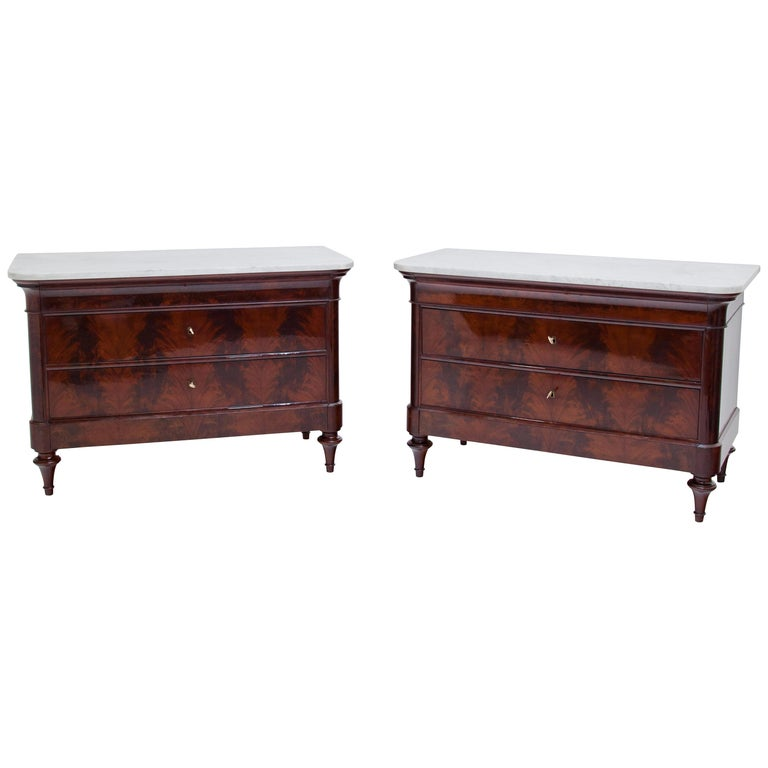 Louis Philippe Chests of Drawers, Italy, 1830s-1840s For Sale