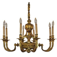 Louis Philippe, Doré Bronze, Eight-Arm Chandelier, 19th Century