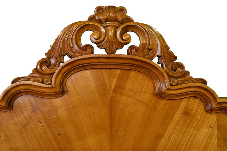 Louis Philippe Fall-Front Secretary in Cherrywood, Germany, circa 1850 For Sale 9