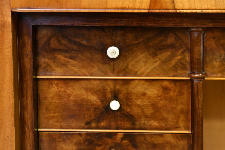 Louis Philippe Fall-Front Secretary in Cherrywood, Germany, circa 1850 For Sale 12