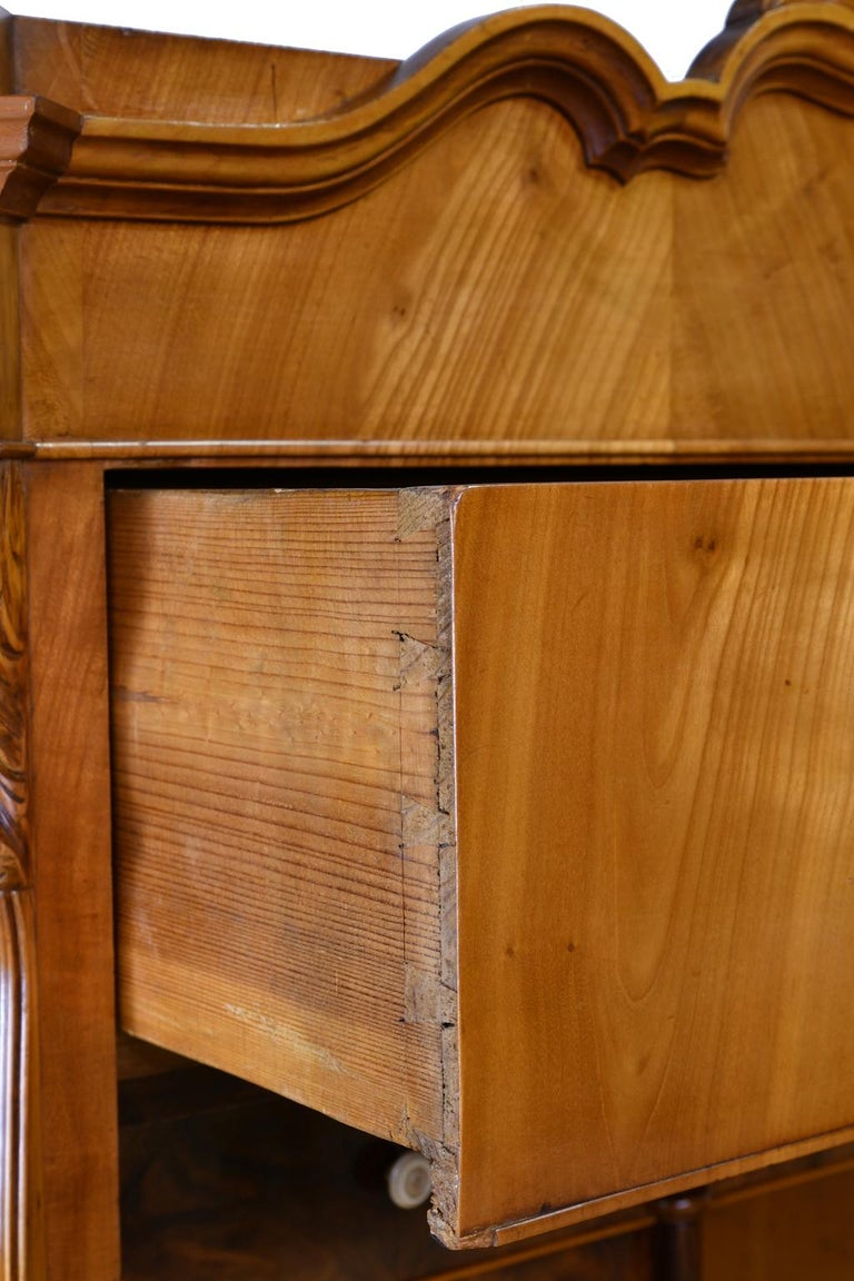 Louis Philippe Fall-Front Secretary in Cherrywood, Germany, circa 1850 For Sale 14
