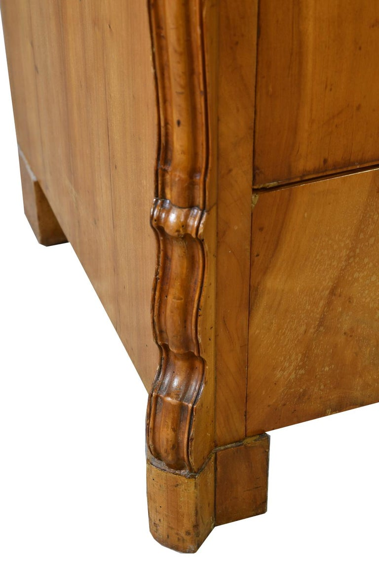 Louis Philippe Fall-Front Secretary in Cherrywood, Germany, circa 1850 For Sale 15