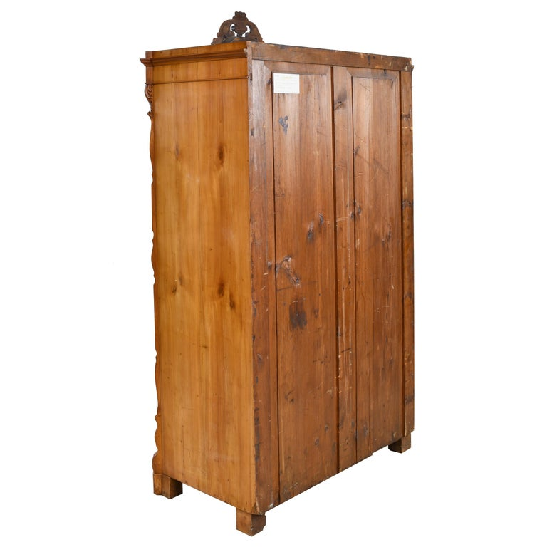 Louis Philippe Fall-Front Secretary in Cherrywood, Germany, circa 1850 For Sale 1