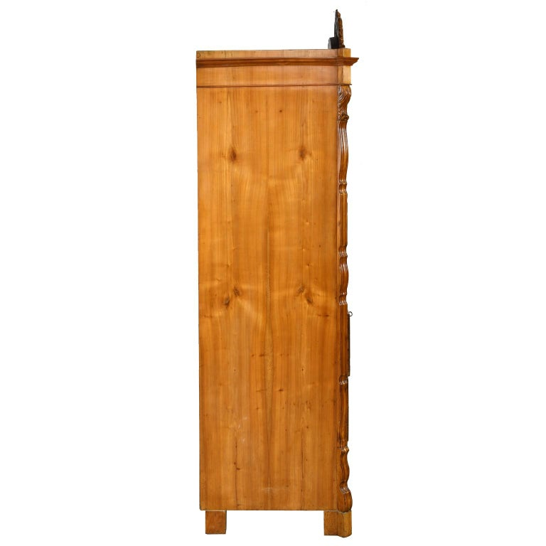 Louis Philippe Fall-Front Secretary in Cherrywood, Germany, circa 1850 For Sale 4