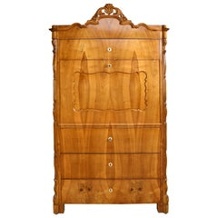 Louis Philippe Fall-Front Secretary in Cherrywood, Germany, circa 1850