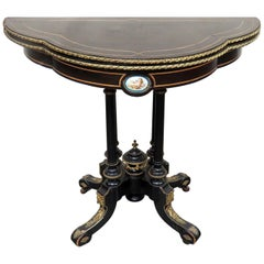 Louis Philippe Flip Top Card Table