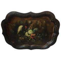 Louis Philippe Hand Painted Sicilian Metal Tray
