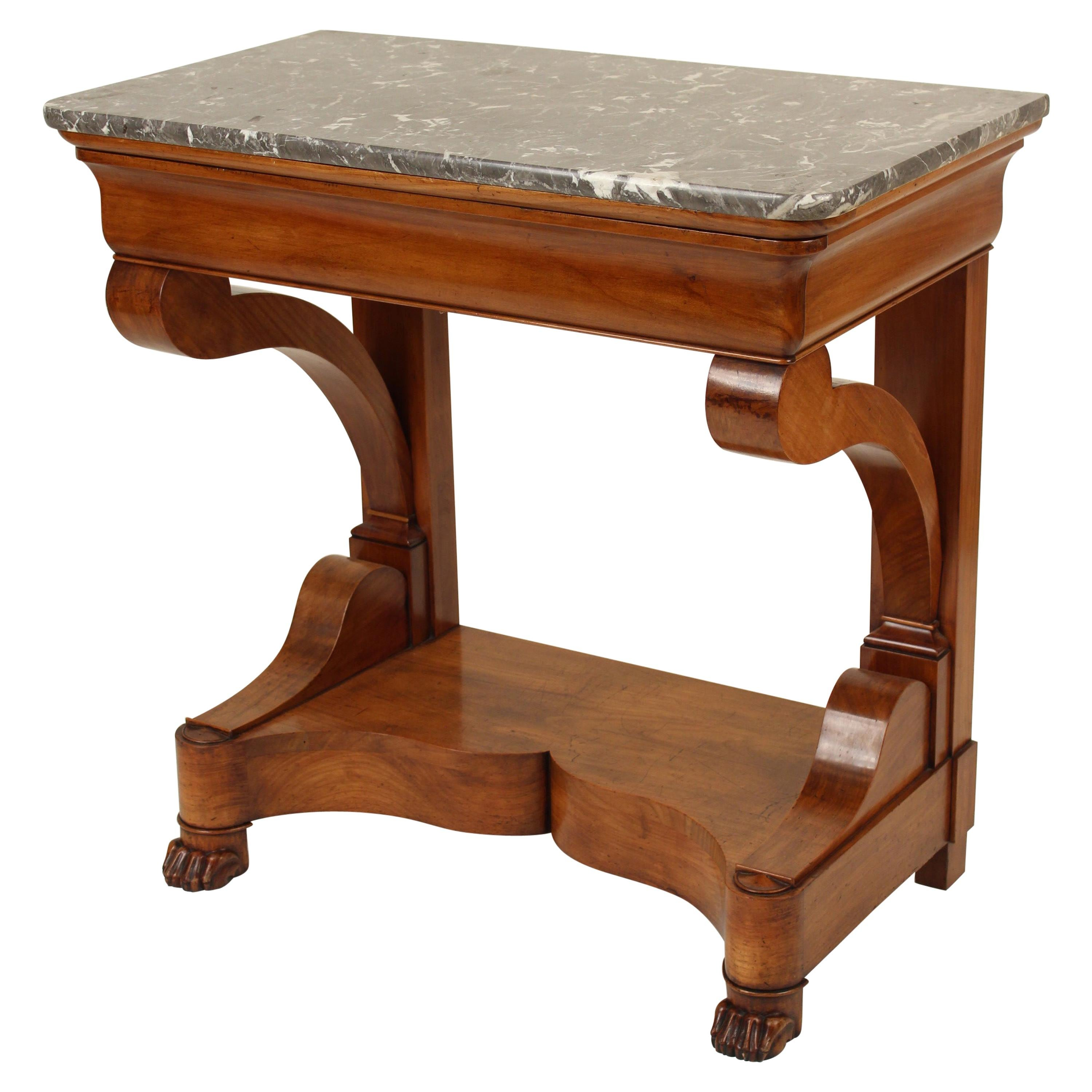 Louis Philippe Mahogany Marble-Top Console Table