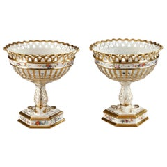 Louis-Philippe Pair of Porcelain Goblets