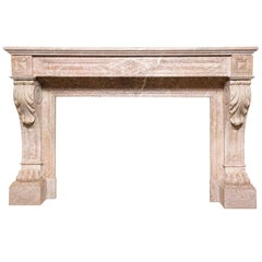 Louis Philippe Period Marble Empire Style Mantel