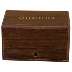 Louis-Philippe Period Ointment Box in Rosewood and Marquetry, 19th Century