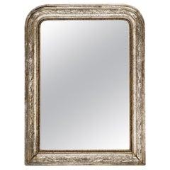 Louis Philippe Period Silver Leaf Mirror