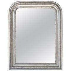 Louis Philippe Silver Gilt Mirror (H 26 x W 20 1/4)