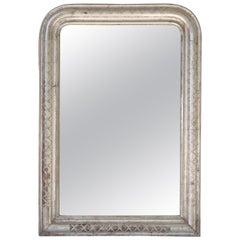 Louis Philippe Silver Gilt Mirror (H 35 x W 24 3/4)