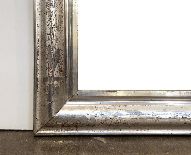 Louis Philippe Silver Gilt Mirror For Sale 4