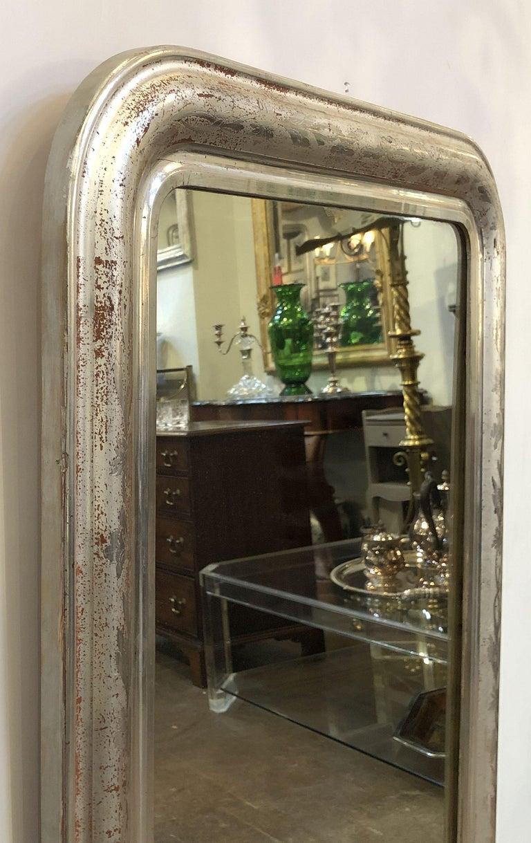 Louis Philippe Silver Gilt Mirror For Sale 6