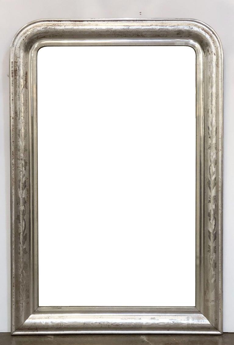 Louis Philippe Silver Gilt Mirror For Sale 12