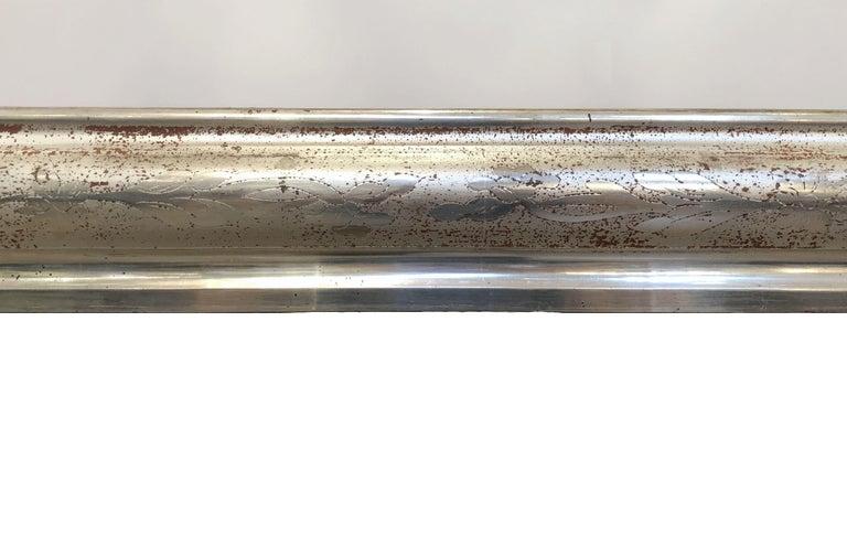 19th Century Louis Philippe Silver Gilt Mirror For Sale