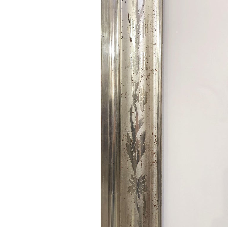 Louis Philippe Silver Gilt Mirror For Sale 1