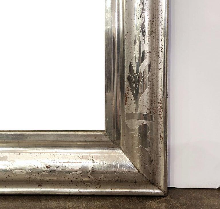 Louis Philippe Silver Gilt Mirror For Sale 2
