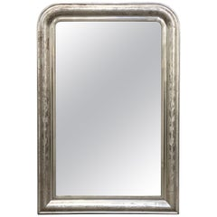 Louis Philippe Silver Gilt Mirror (H 43 3/4 x W 29 3/8)