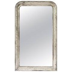 Louis Philippe Silver Gilt Mirror (H 53 3/4 x W 32 1/2)