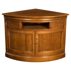 Louis Philippe Style Cherry Corner Cupboard, Cherry Stained, 100% Made in France