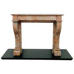 Louis Phillipe Rouge Marble Fireplace Mantlepiece