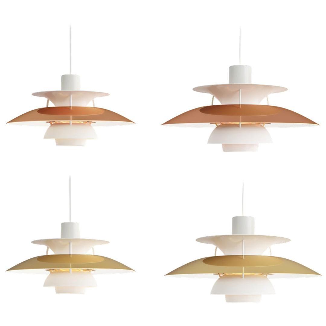 Louis Poulsen, 300/500 Metal Pendant Light by Poul Henningsen