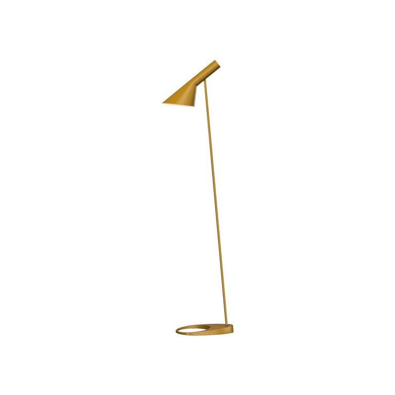 For Sale: Yellow (yellow ochre.jpg) Louis Poulsen AJ Floor Lamp by Arne Jacobsen