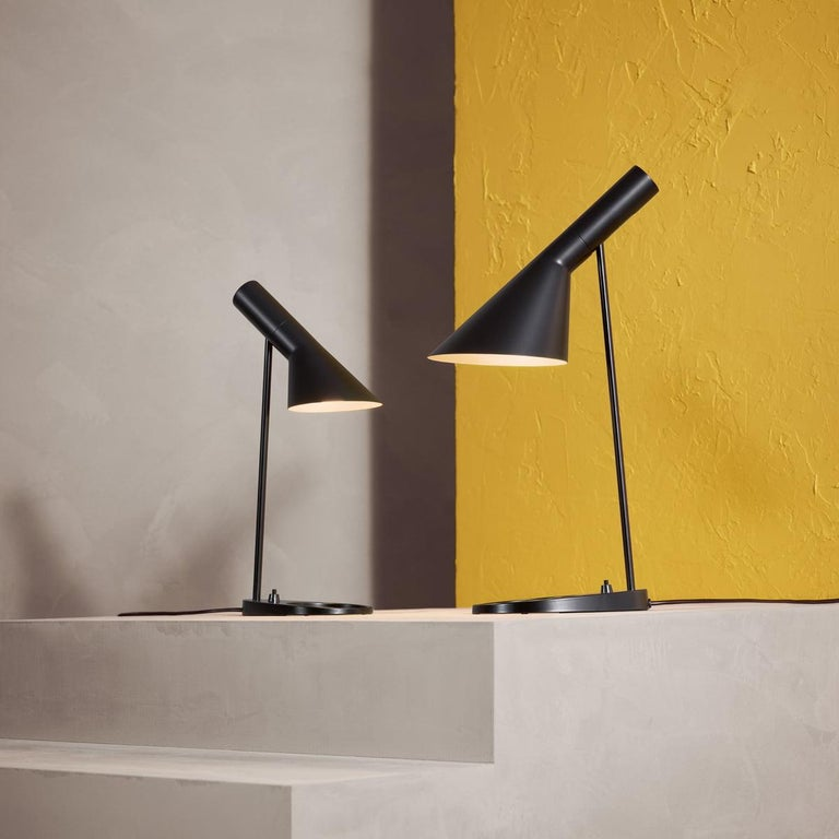 Contemporary Louis Poulsen, AJ Mini Steel Table Lamp by Arne Jacobsen For Sale