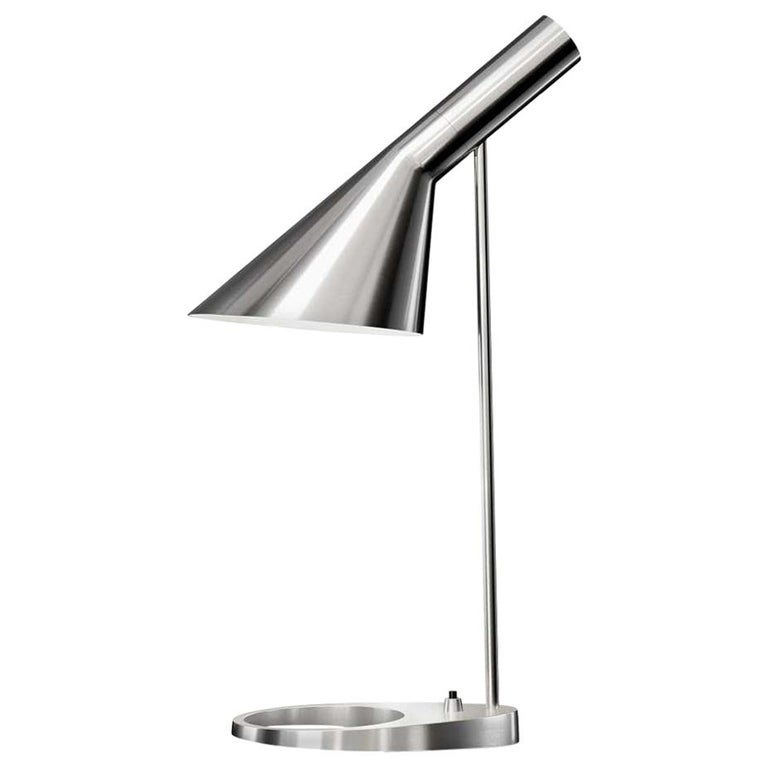 Louis Poulsen, AJ Mini Steel Table Lamp by Arne Jacobsen For Sale