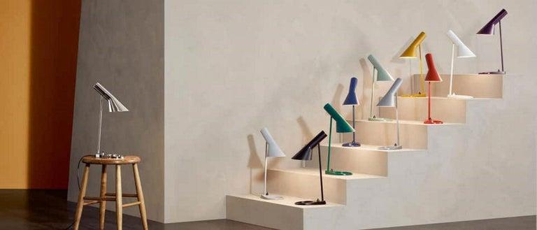 Modern Louis Poulsen, AJ Steel Table Lamp by Arne Jacobsen For Sale