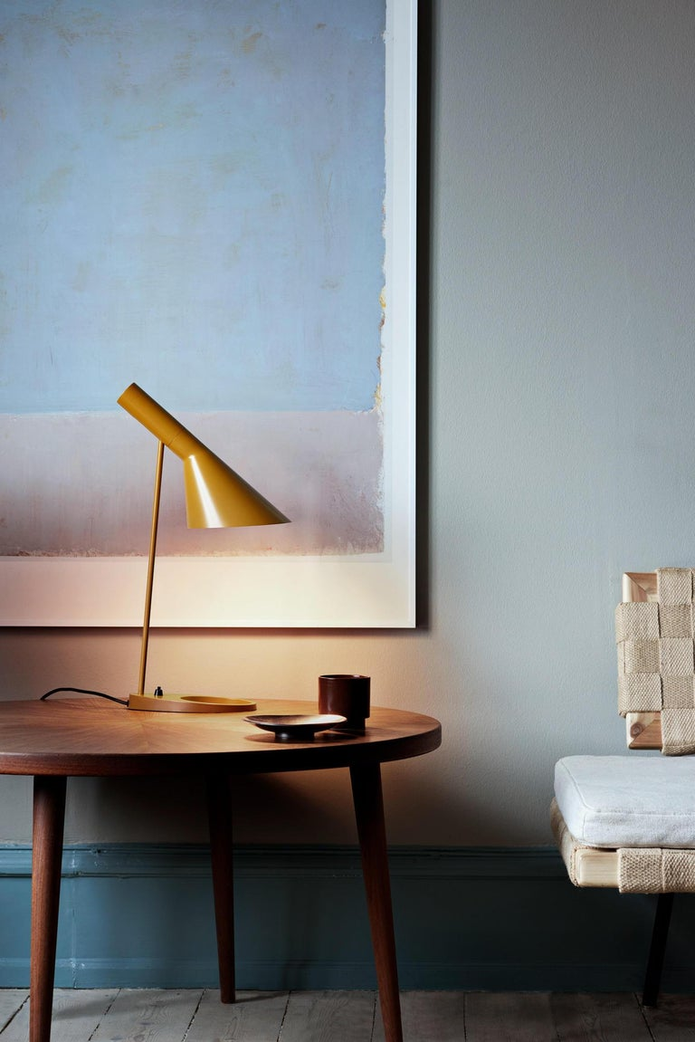 Danish Louis Poulsen, AJ Steel Table Lamp by Arne Jacobsen For Sale