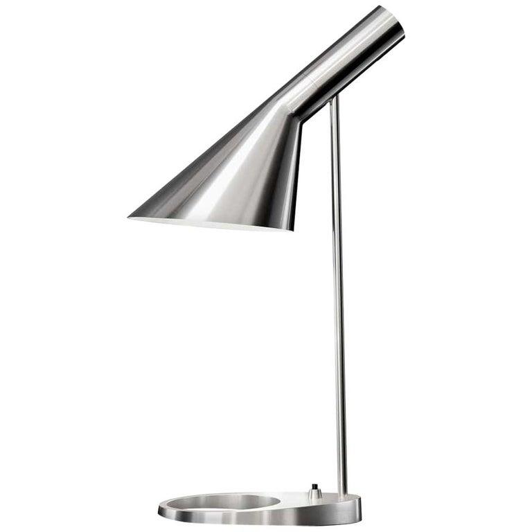 Louis Poulsen, AJ Steel Table Lamp by Arne Jacobsen For Sale