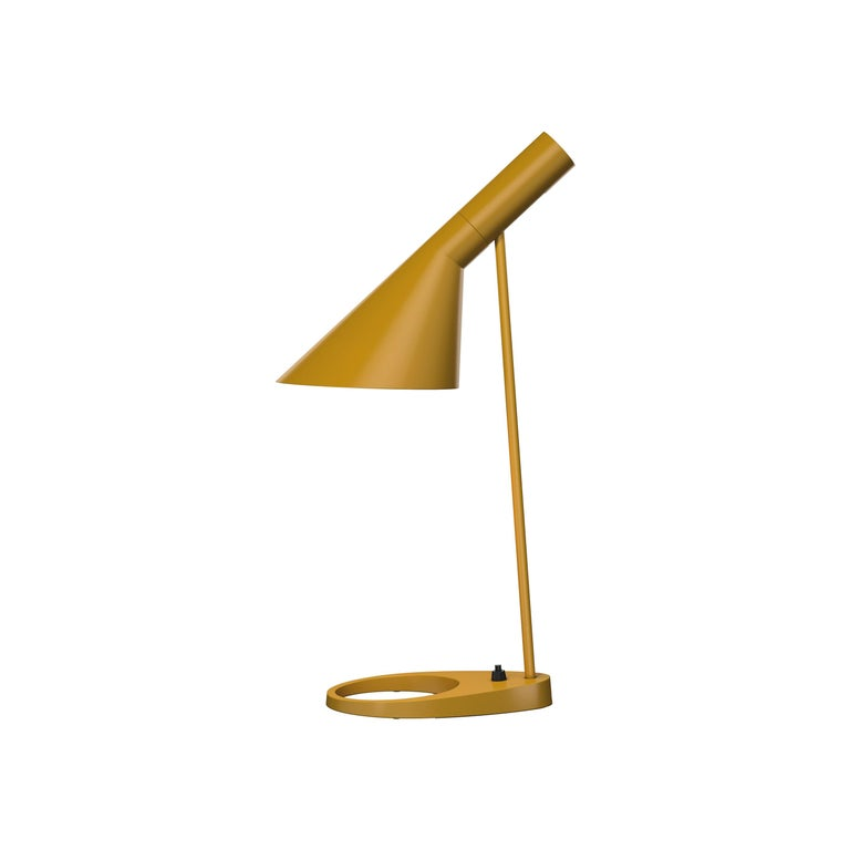 For Sale: Yellow (yellow ochre.jpg) Louis Poulsen AJ Table Lamp by Arne Jacobsen