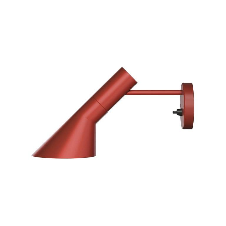 For Sale: Red (rusty red.jpg) Louis Poulsen AJ Wall Lights by Arne Jacobsen