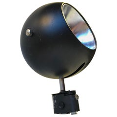 Louis Poulsen Black Space Age Ball Wall Sconce, Denmark, 1970s